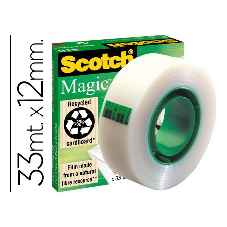 Cinta adhesiva marca scotch-magic 33 mt x 12 mm