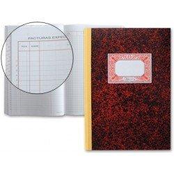 Libro cartone Miquelrius tamaño folio Registro de facturas emitidas