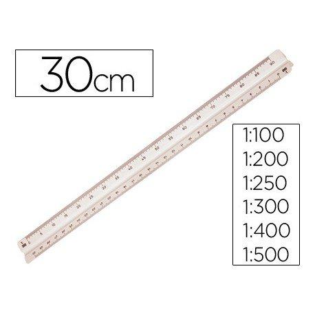 Escala mor 1632.05 -1:100-200-250-300-400-500 -30 cm con estuche flexible