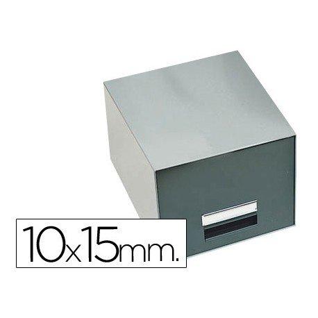 Fichero Liderpapel metálico sin cerradura fichas 10 x 15 mm