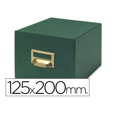 Fichero Liderpapel tela verde N4