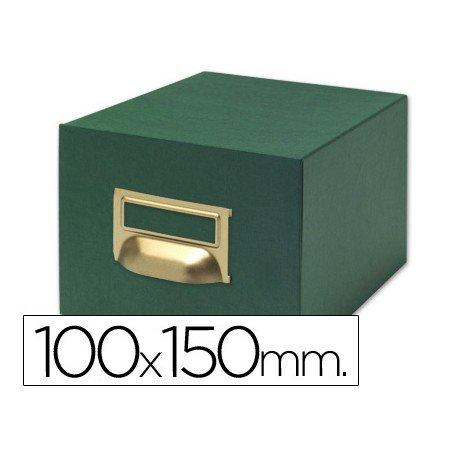 Fichero Liderpapel tela verde N3