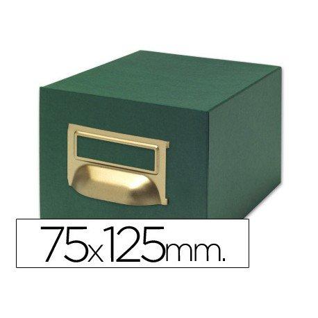 Fichero Liderpapel tela verde N2
