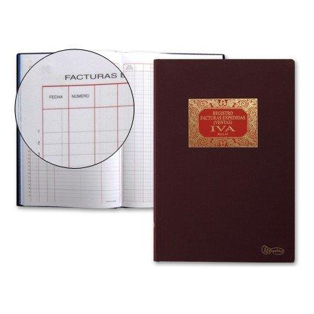 Libro Miquelrius tamaño folio de facturas emitidas 100 hojas