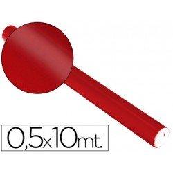 Papel metalizado Sadipal rojo 65g/m2 medidas 50x10 cm