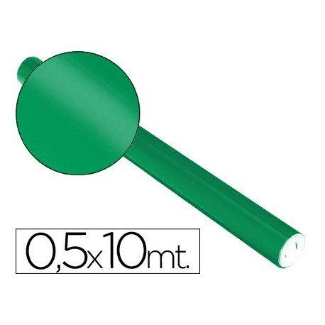 Papel metalizado Sadipal verde 65g/m2 medidas 50x10 cm