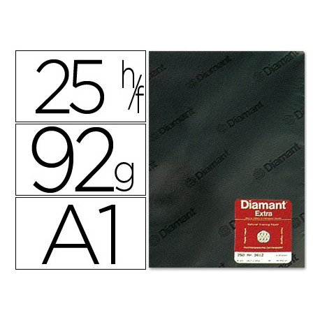 Papel vegetal Diamant A1 92g/m2 formato hoja