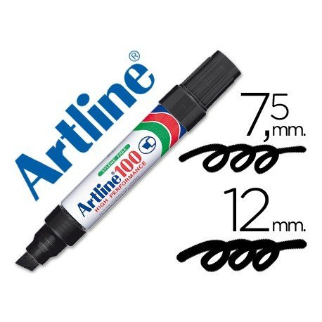 Rotulador permanente Artline EK-100 Recargable Color Negro