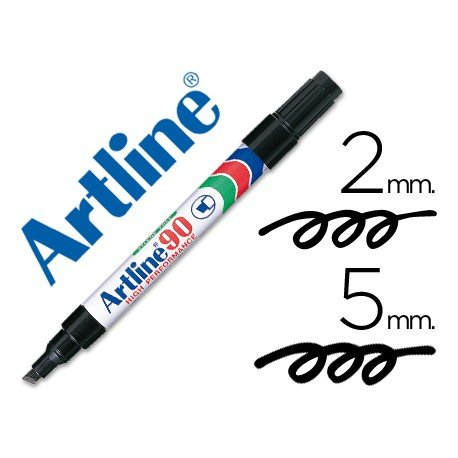 Rotulador permanente Artline EK-90 Recargable Color Negro