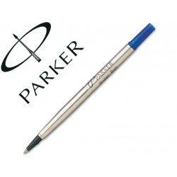 Recambio rotulador roller Parker azul 0,8 mm