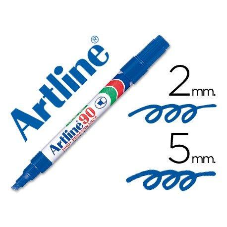 Rotulador permanente Artline EK-90 Recargable Color Azul