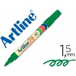 Rotulador permanente Artline EK-70 Recargable Color Verde