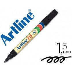 Rotulador permanente Artline EK-70 Recargable Color Negro