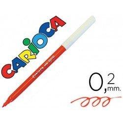Rotulador Carioca fino color rojo
