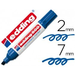 Rotulador Edding 500 azul