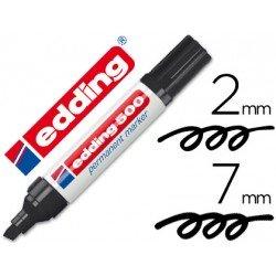 Rotulador Permanente Edding 500 Color Negro Punta Biselada