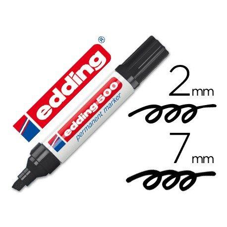 Rotulador Edding 500 negro