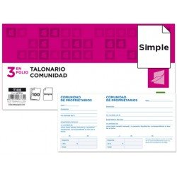 Talonario Liderpapel T-106 comunidad 102x205 mm