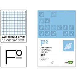 Recambio Liderpapel Folio cuadricula 3mm