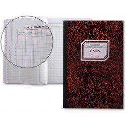 Libro cartone Miquelrius tamaño folio Registro de facturas recibidas