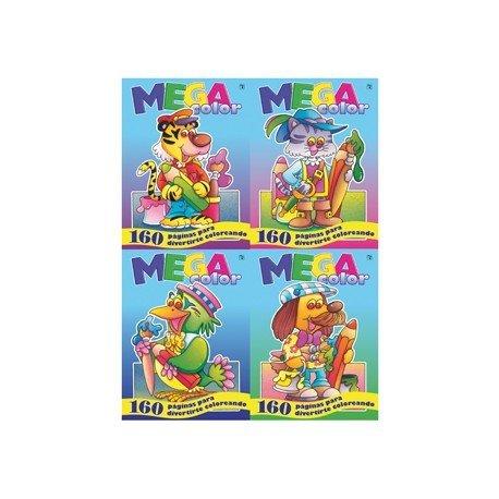 Cuaderno colorear Megacolor 160 paginas 4 títulos (NO SE PUEDE ELEGIR)