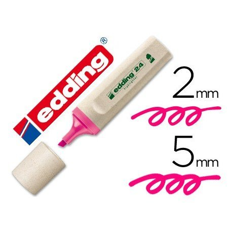 Rotulador Edding 24 Ecológico color rosa fluorescente