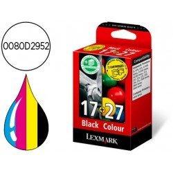 Cartucho Lexmark Nº17 + Nº27 (0080D2952) tricolor + negro