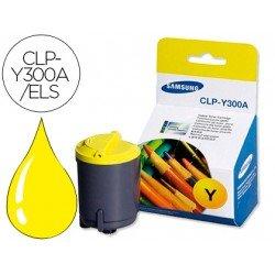 Tóner Samsung amarillo laser CLP-Y300A/ELS, impresoras CLP-300, CLX-2160