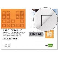 Papel dibujo marca Liderpapel Din A4 con recuadro