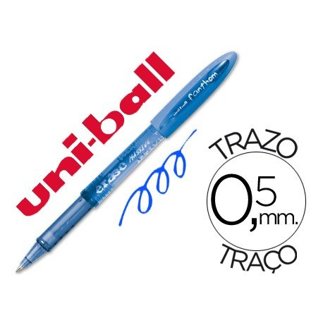 Boligrafo Borrable Uni-ball UF-202 Fanthom color azul 0,5 mm