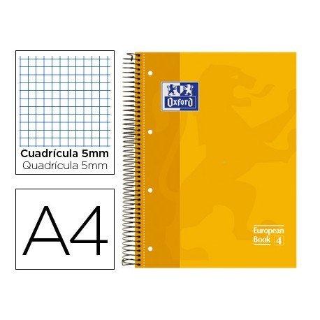 Bloc espiral Oxford Din A-4 extradura microperforado color amarillo
