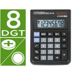 Calculadora sobremesa Citizen SDC-011S negra 10 digitos