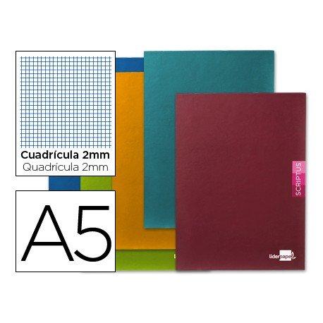 Libreta escolar marca Liderpapel Scriptus cuadricula 2mm tamaño DIN A5