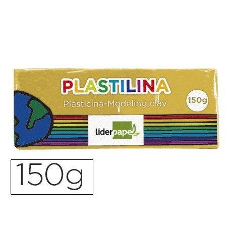Plastilina Liderpapel color amarillo oscuro mediana