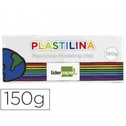 Plastilina Liderpapel color blanco mediana