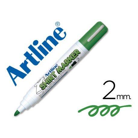 Rotulador para tela textil Artline color verde