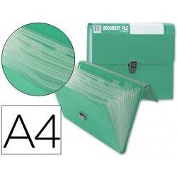 Carpeta Beautone clasificador fuelle Din-A4 verde