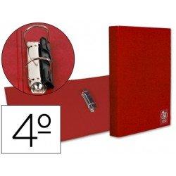 Carpeta liderpapel de 2 anillas roja 25 mm