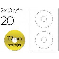 Etiqueta adhesiva marca Sprint jet din A4 para cd-dvd metalizado oro pack de 10 hojas