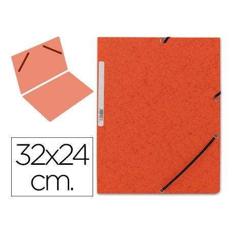 Carpeta Q-connect con gomas naranja