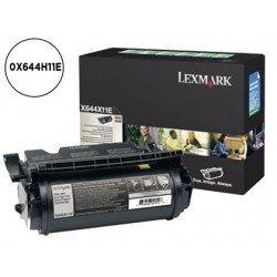 Toner Lexmark 0X644H11E color negro