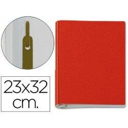 Carpeta con fuelle metalico fastener rojo