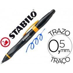 Boligrafo Stabilo Smartball negro y naranja 0,5 mm tinta azul