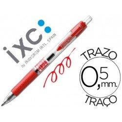 Boligrafo roller Inoxcrom gel campus rojo 0,5 mm