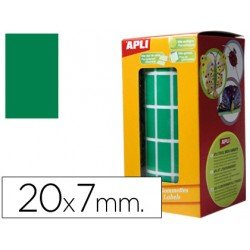 Gomets Apli Rectangulares color verde 20x7mm