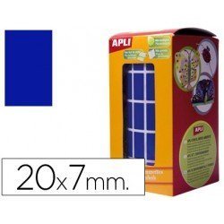 Gomets Apli Rectangulares color Azul 20x7mm
