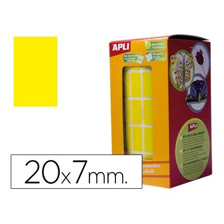 Gomets Apli Rectangulares color Amarillo 20x7mm