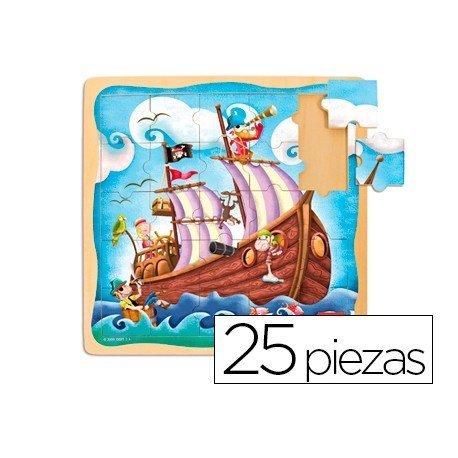 Puzzle a partir de 3 años Barco pirata Diset