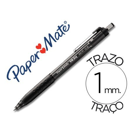 Bolígrafo Paper Mate Inkjoy 300 RT negro 1 mm