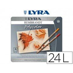 Lapices de colores Lyra Rembrandt polycolor hexagonales caja 24 unidades